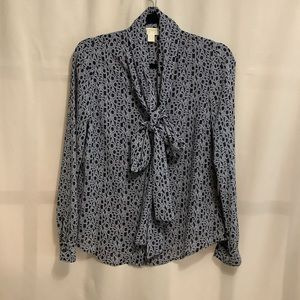Michael Kors spellout button up blouse with ties